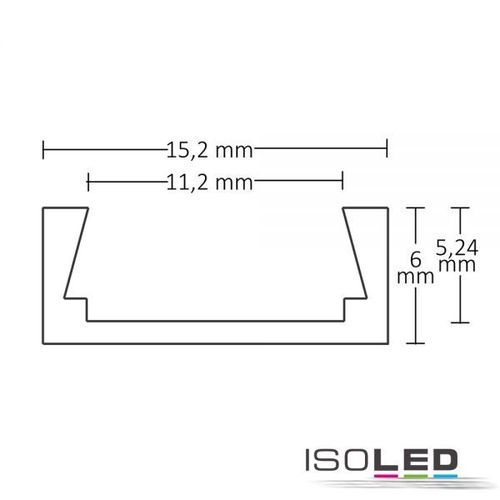 Isoled LED Montageprofil MINI-AB10, eloxiert L: 2000mm